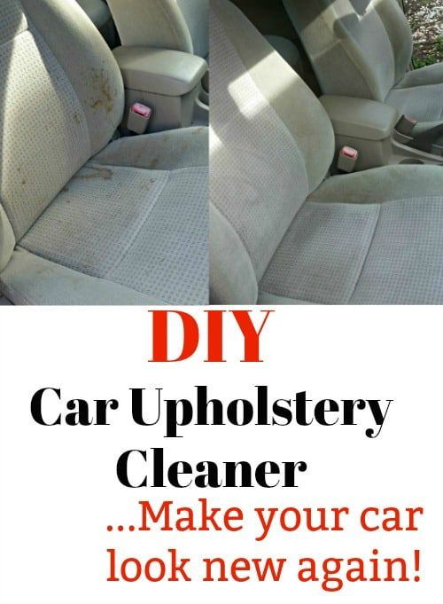 Make A Simple And Effective Diy Car Upholstery Cleaner Diy