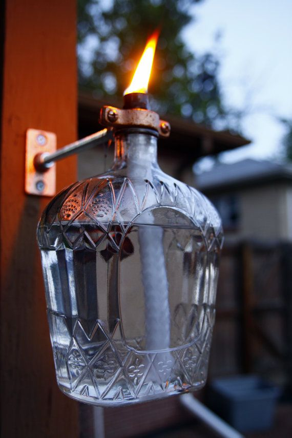 Crown Royal Tiki Style Porch Torch with Holder & by DavesDoodads