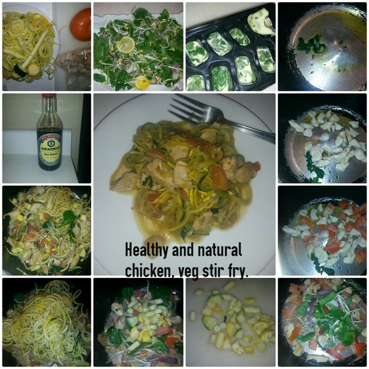 #healthy #natural #chicken #vegetable #Veggetti #fresh Only seasoning used is soy sauce (use the kind you prefer) You can also use fresh garlic for more natural flavor. I freeze cilantro and mint leaves in ice trays with olive oil. I used a cube for my basic start to this all natural dish.
