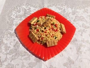 Cous Cous with red pepper and Tofu