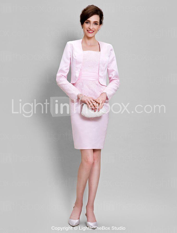 Lanting Bride Pouzdrové Šaty pro matku nevěsty Ke kolenům Dlouhý rukáv Krajka…