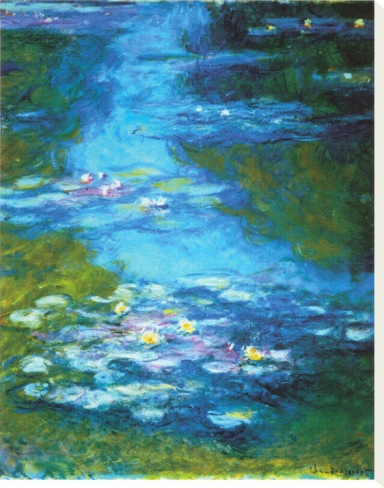 Water Lilies, Monet Favorite from  Isabella Gabriel Niang. www.gabriel-niang.com