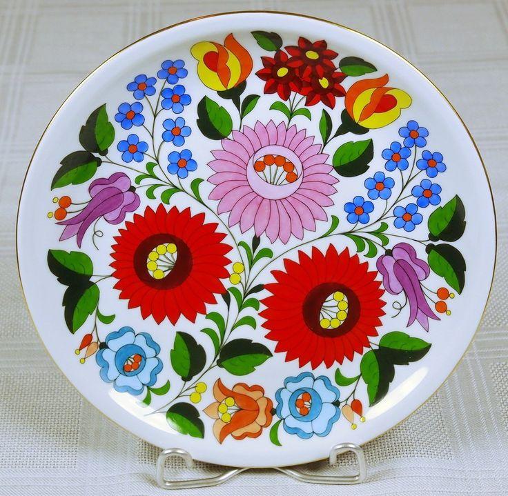 Kalocsai porcelán fali tál - Porcelán |  galeriasavaria.hu