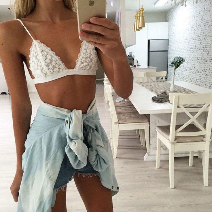 Sexy White Lace Vest FD52201DS