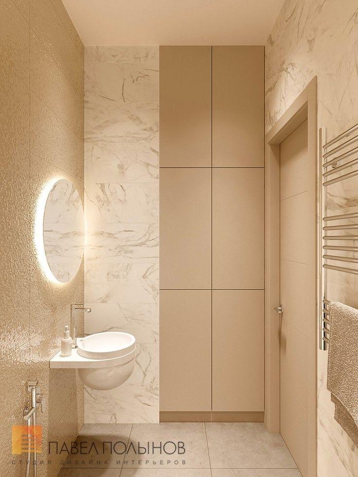 Фото дизайн интерьера ванной комнаты из проекта «Дизайн двухкомнатной квартиры 80 кв.м. в современном стиле, ЖК «Duderhof Club»»