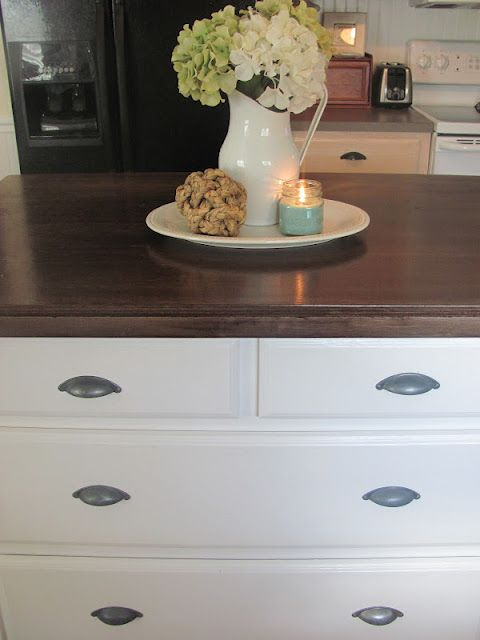 """faux"" butcher block idea"