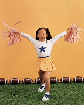 Hip, hip, hooray! The crowd will go wild for this cheerleader and her very cheer-full ensemble.