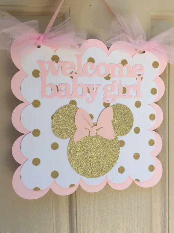 Rosa y cumpleaños oro Minnie Mouse bebé por PrettyBoutiqueParty