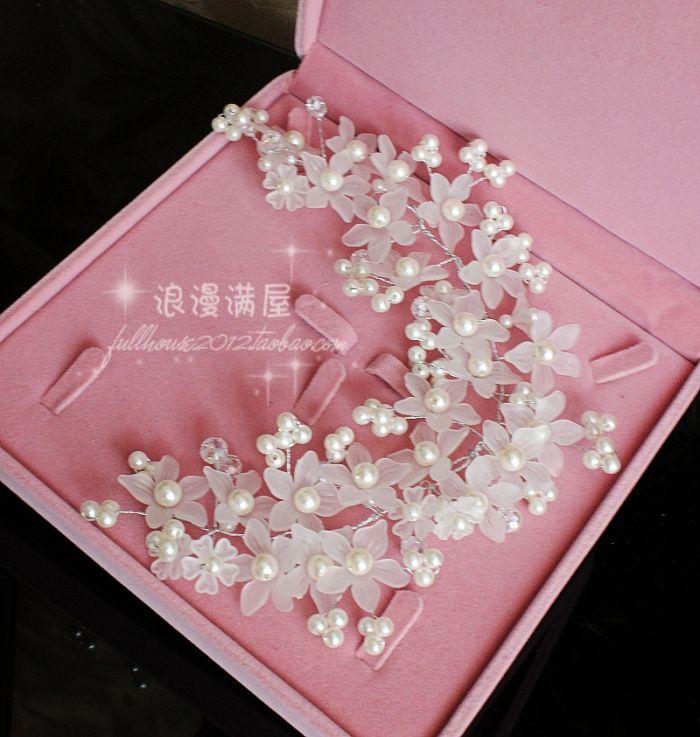 Рука богатым невесты красивые маленькие белые цветы красивые свадебные платья с аксессуарами головной убор корейских небольшие свежие аксессуары невесты волос - Taobao