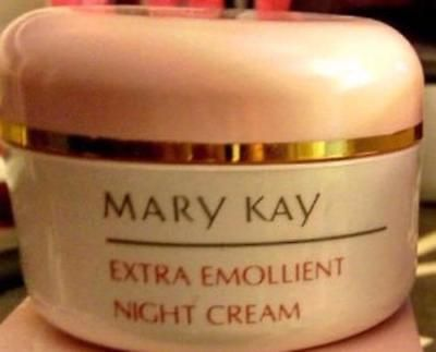 Night Treatments: Mary Kay® Extra Emollient Night Cream White Jar Pink Lid 2.5 Oz. No Box -> BUY IT NOW ONLY: $34.99 on eBay!