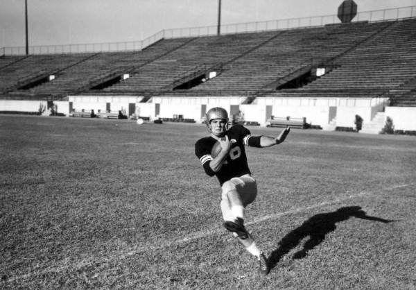 Burt Reynolds at Doak Campbell Stadium (1954).   Florida Memory