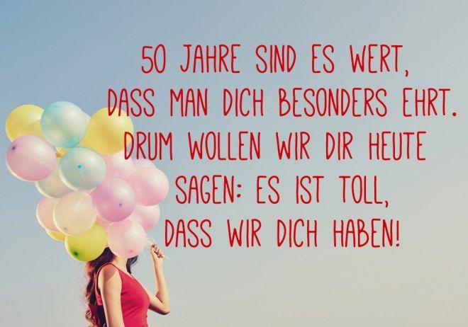 Spruch Zum 50 Geburtstag