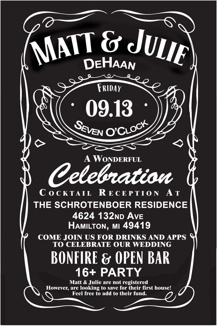 Jack Daniels wedding invites!   Custom for our wedding!