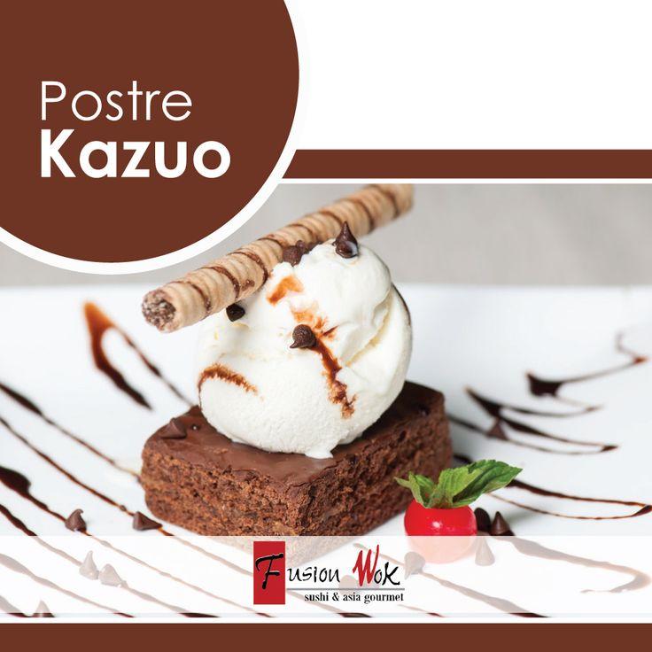 Ven a disfrutar de un buen postre. ¡Los esperamos con un delicioso brownie con helado, chips de chocolate y salsa de chocolate al mejor estilo Fusion Wok!