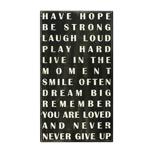 Have Hope Box Sign | dotandbo.com