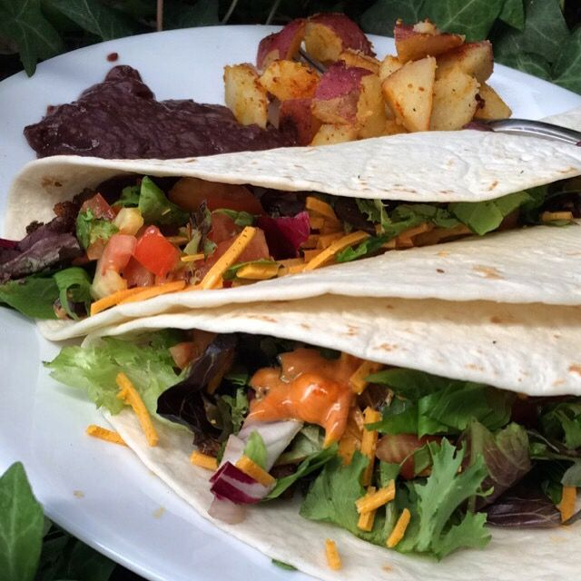 Tacos - meat eater approved! I love this recipe. It's a twist on an old favorite of mine. If you prefer not to use imitation meats you can always fry some tofu or simply use black beans or refried ...