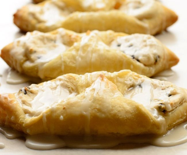Cannoli Cheese Danish is a 30 minute easy treat perfect for breakfast or dessert!- The Spice Kit Recipes