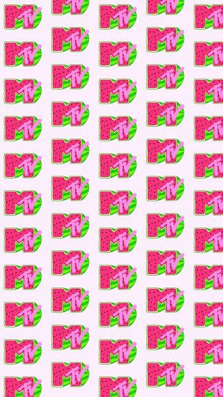 Mtv Logo Water Melon iPhone 6 / 6 Plus wallpaper