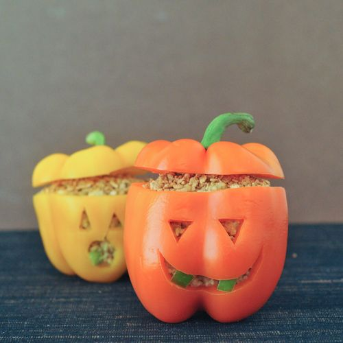 Pepper Jack o' Lanterns for #Halloween @annielies at Attune Foods