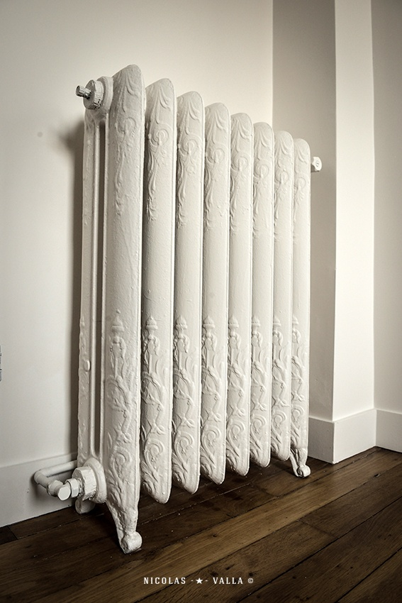 Parquet / Old radiator -★- Home / Work in progress / Interior design & Photography by Nicolas Valla