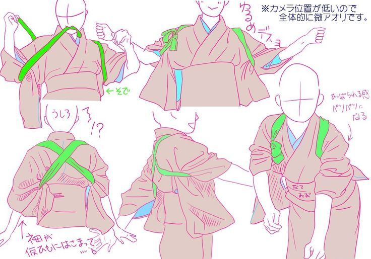 【ポーズ/和服1】着物袖・雑記 [2]