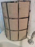 filtro aria condizionata intasato dallo sporco