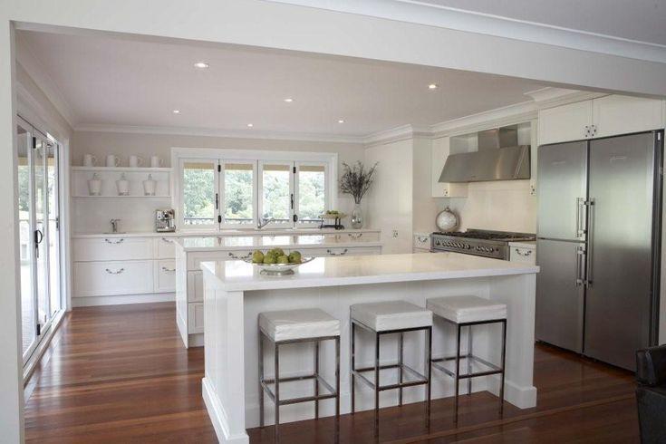 #kitchen #hamptons #country, caesar stone organic white