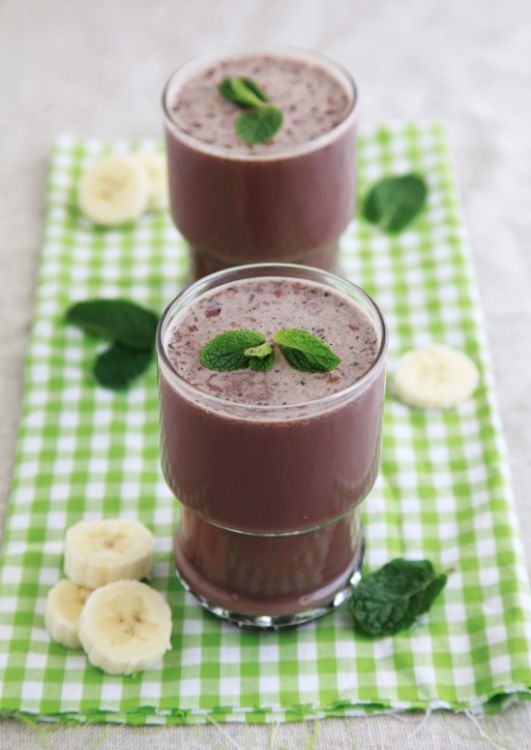 Healthy Chocolate & Mint Smoothie