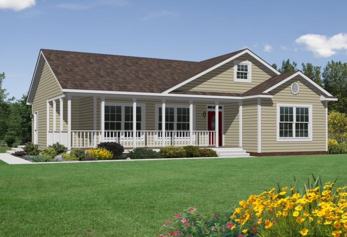 25 best ideas about modular home plans on pinterest for Mobile home with wrap around porch