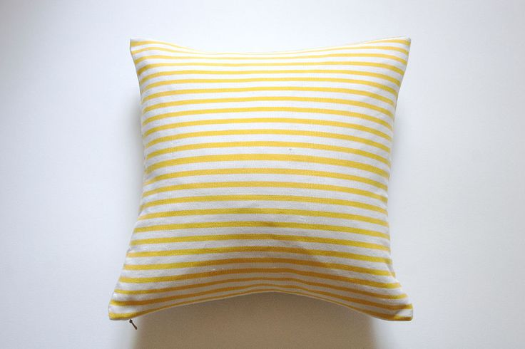 Using poly-cotton yarn sourced locally, in Ghana to create the front panel and fair trade organic linen for the back panel, these cushions are truly a labour of love. The creation of these cushions provides employment for many women in a vulnerable region of the country. These yellow and white striped cushions brighten up any room in a fresh and fun way. http://www.pearlgrace.co.uk/product/yellow-summer-stripe-small