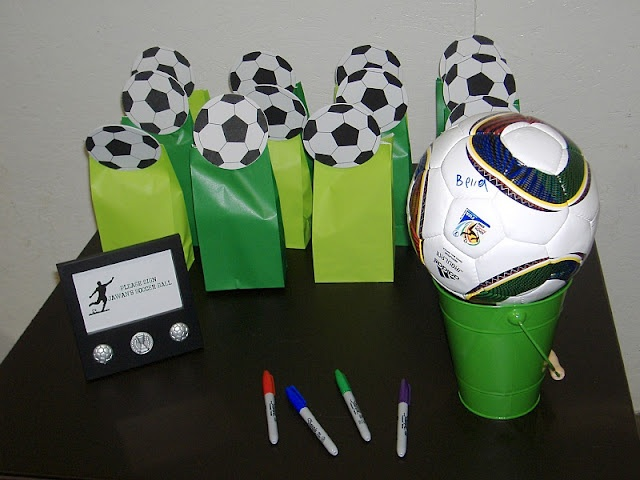 I like the idea of people who attend to the party to sign the soccer ball for Max's Birthday