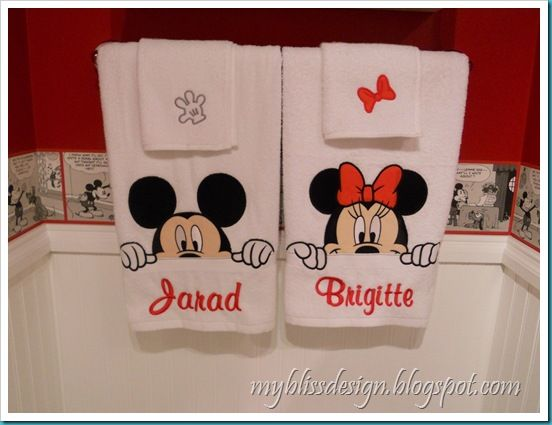 Monogrammed His towels from Disney World-- wonder what my husband would say to see these in the bathroom LOL