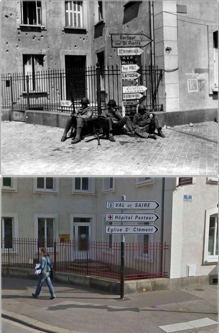 Soldati Americani in Cherbourg Tourlaville Rue Aristide Briand Giugno1944 circoscrizione (arrondissement) di Cherbourg-Octeville #NORMANDIA1944