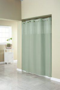 Hookless Shower Curtain in Sage