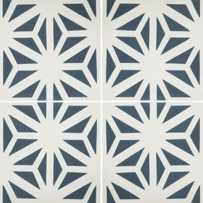 Cement Tiles - Tunis 54 B 8 x 8 Deco - By Granada Tile