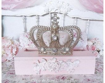 This elegant teester is made of wood and has been painted in Champagne...for those of you who don t know, it is a wooden, square, frame structure designed to hang sheers/curtains from. It has a Metallic Gold Fleur de Lis applique across the front and is crowned with a beautiful Metallic Gold crown attached! Crown also has a Fleur de Lis at its top. Crown and applique are both made of resin. Color choices available below.  ♥ Ive embellished this with dazzling, crystal clear rhinestones fo...