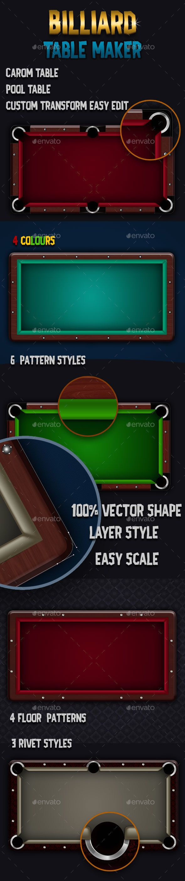 Billiards Table Maker - Miscellaneous Game Assets