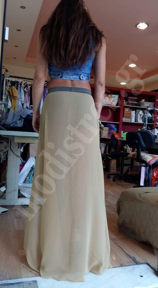 Εξωτερικά φούστα μουσελίνα. Εσωτερικά κολάν - σορτς. Αγορά και μέσω e-shop Δείτε την μαζί με όλη την δουλειά μας και στο site μας http://bit.ly/1MrsIBp