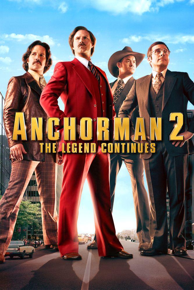 Anchorman 2: The Legend Continues Movie Poster - Will Ferrell, Steve Carell, Paul Rudd  #Anchorman2, #TheLegendContinues, #MoviePoster, #AdamMcKay, #Comedy, #PaulRudd, #SteveCarell, #WillFerrell