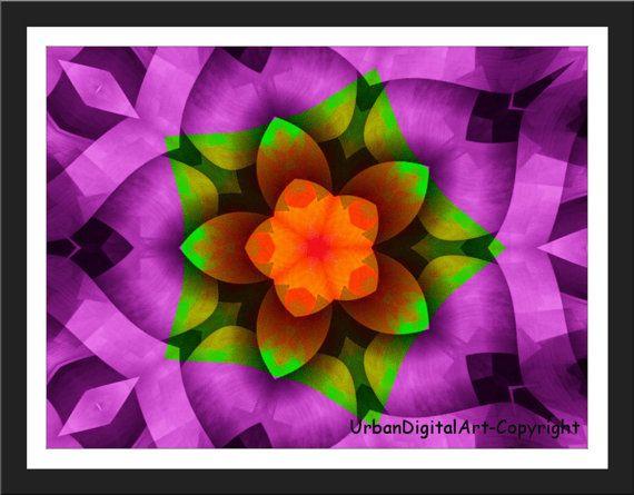 Purple Flower-LOW COST-Downloadable Fine Art by UrbanDigitalArt