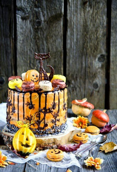 Chocolate-poppy-pumpkin cake «Bewitched».