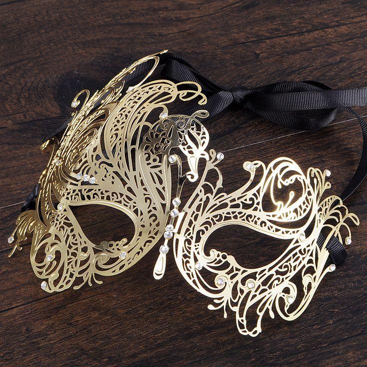 Luxury Gold Elegant Metal Laser Cut Venetian Halloween Ball Masquerade Mask cool #Unbranded