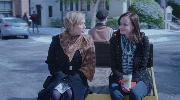 See knitting is everywhere! Pattern info for Gilmore Girls scarves.