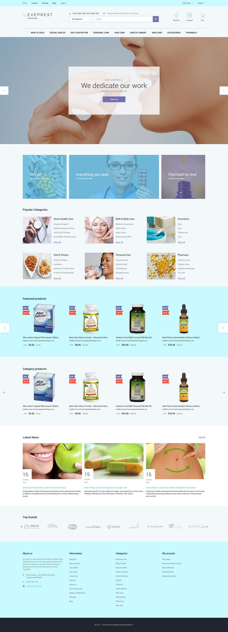 Eveprest - Drugstore Responsive Prestashop Theme