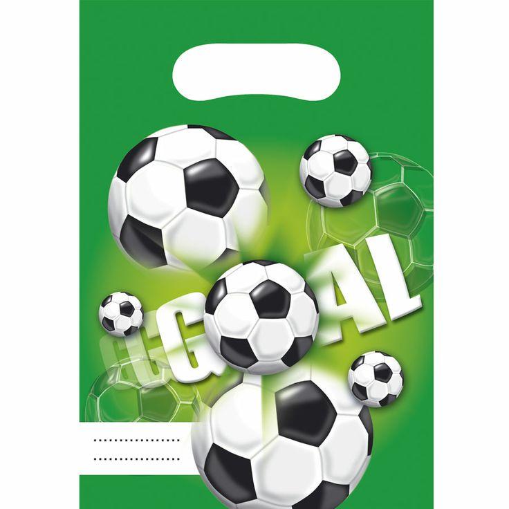 6 pochettes cadeaux goal vert pour l'anniversaire de votre enfant - Annikids