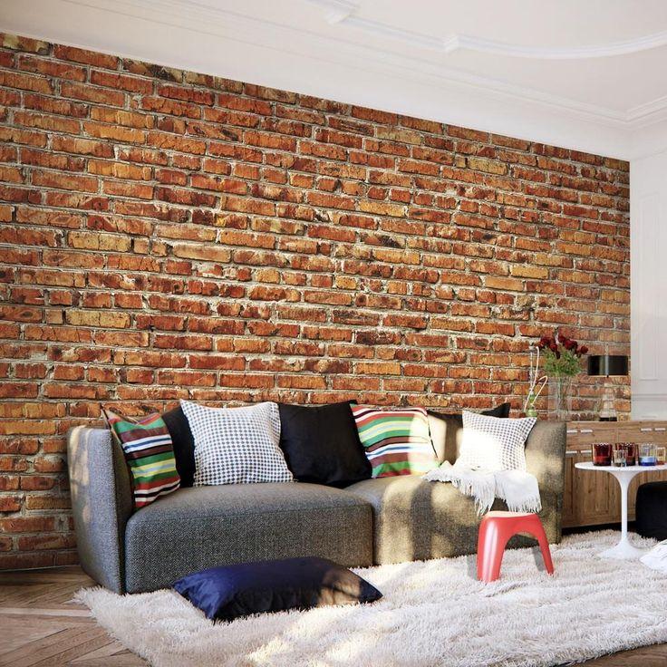 Fotomurale - Brick Wall I miei salvataggi Pinterest - steintapete beige wohnzimmer