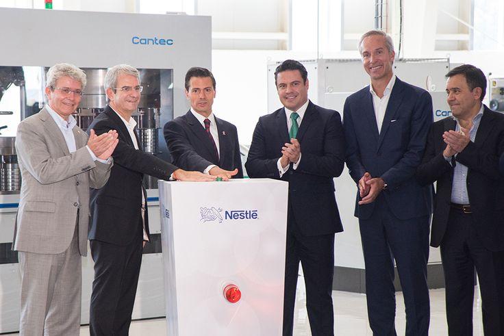 El presidente Peña Nieto inaugura una planta de Nestlé en Jalisco