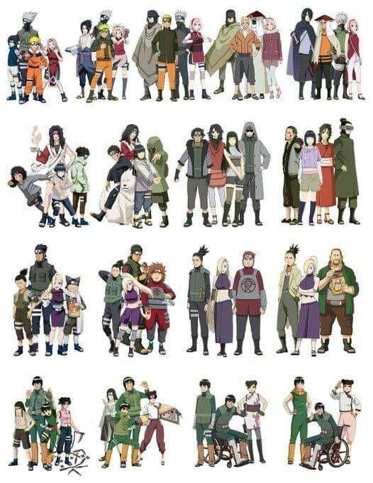 Casais De Naruto: Com Quem Termina Cada Personagem