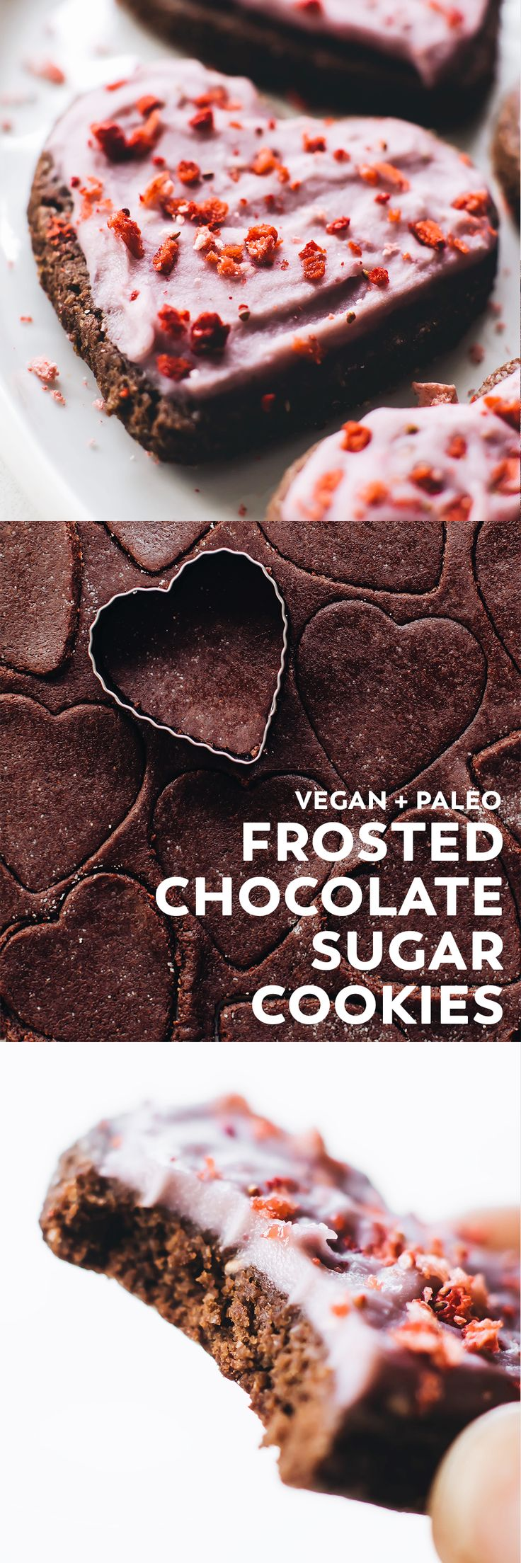 Vegan frosted chocolate sugar cookies