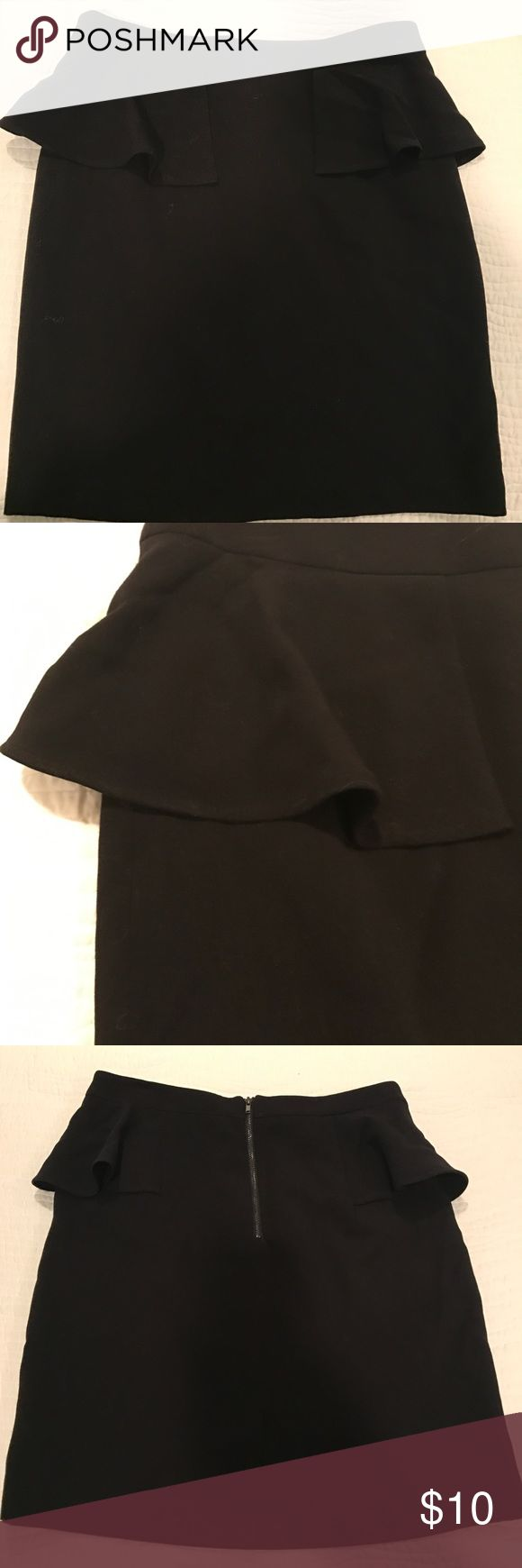 Forever 21 Black Peplum Skirt Great condition, nice piece to dress up or down Forever 21 Skirts Pencil